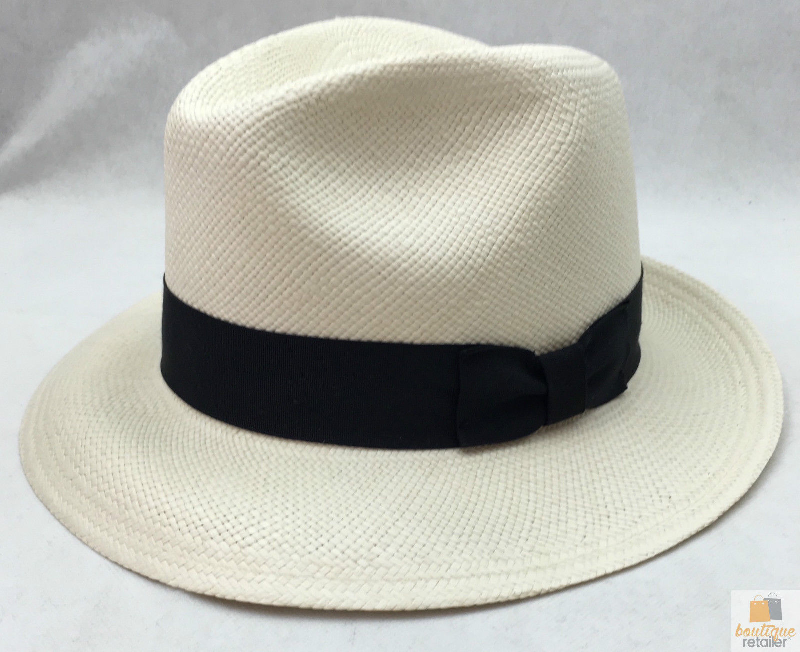 91af68cb4e664d h m s Remaining. Premium Classic Straw Panama Hat Fedora Trilby Hand Woven  in Ecuador ...