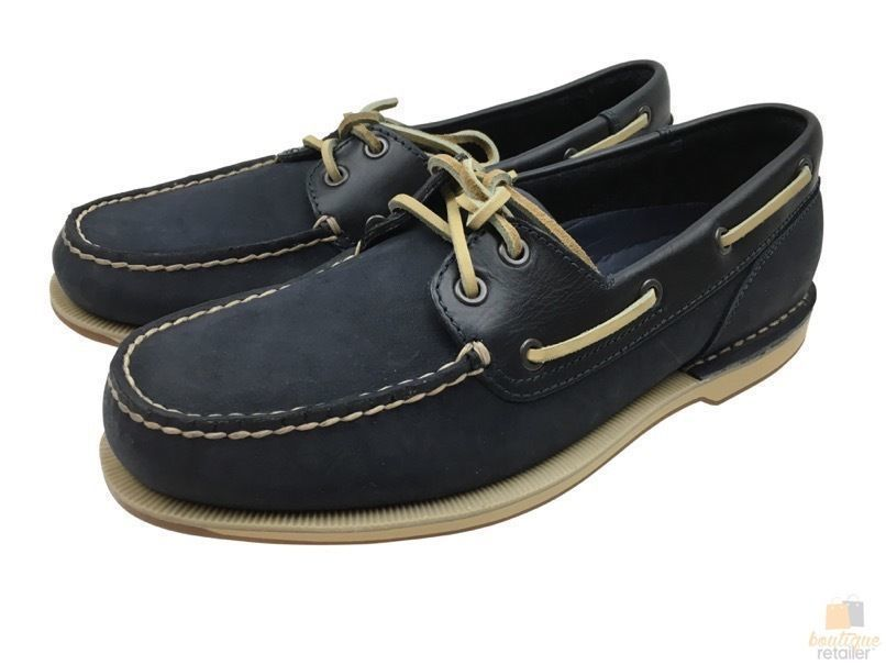 ee27722d02 ROCKPORT Perth Boat Shoes Leather Casual Footwear Loafers V77051 ...