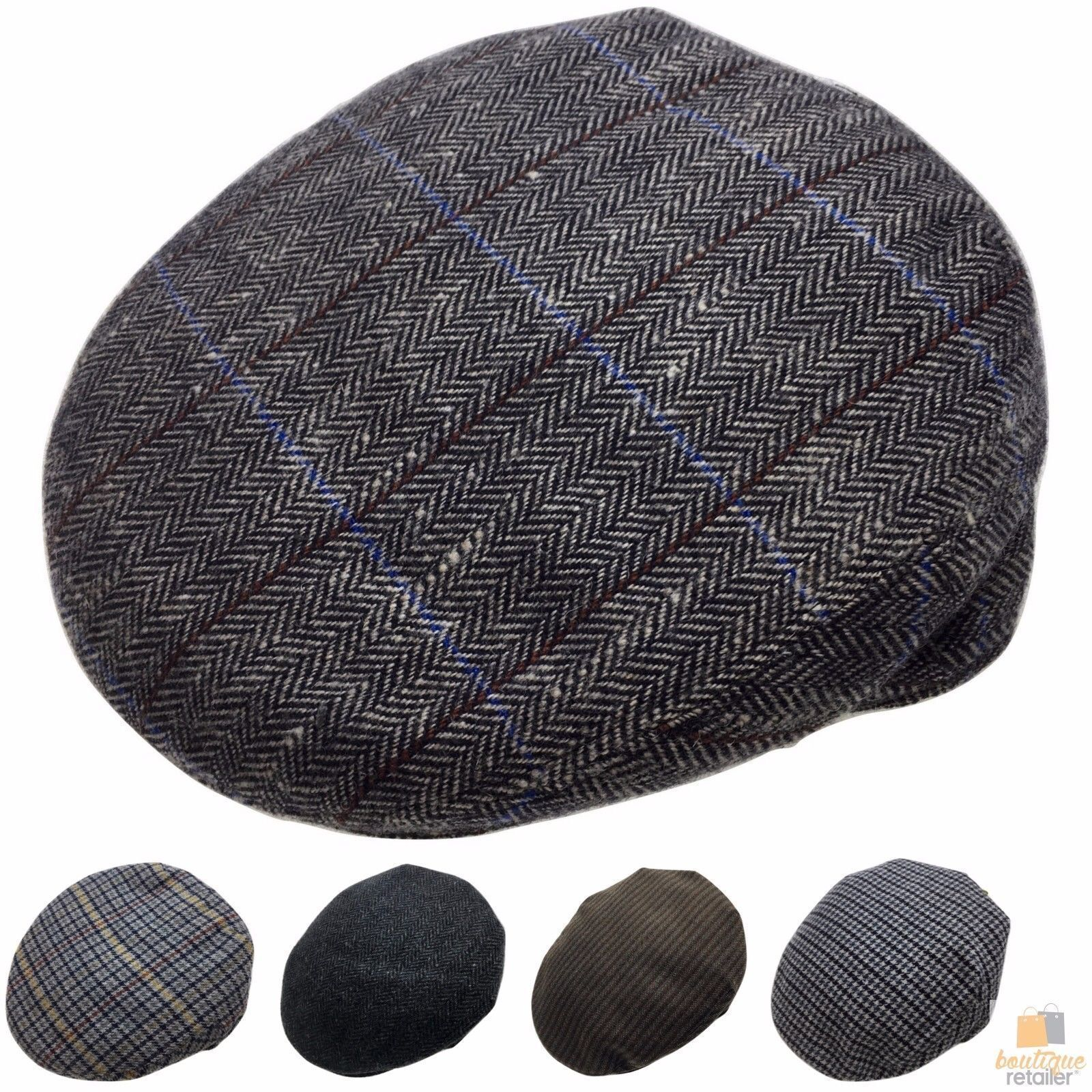 h m s Remaining. STRATFORD English Tweed Country Flat Cap Mens Driving ... 7d6fa9d91c96