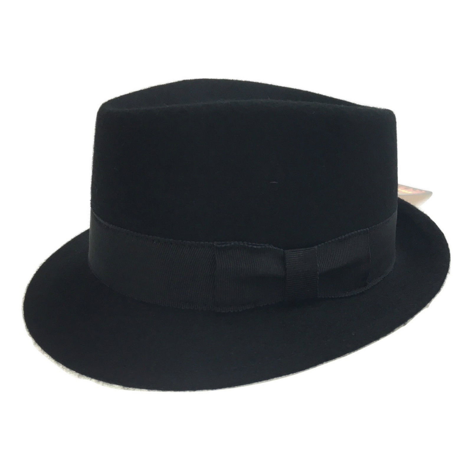 d8206c42ada5f0 The Bradley Porkpie 100% Genuine Wool Felt Hat Fedora Trilby Formal ...