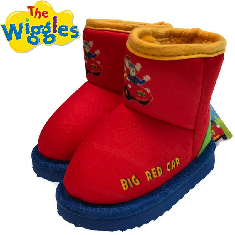 a23bc19c464f THE WIGGLES Big Red Car Boots Children s Kids Shoes Indoor Outdoor ...