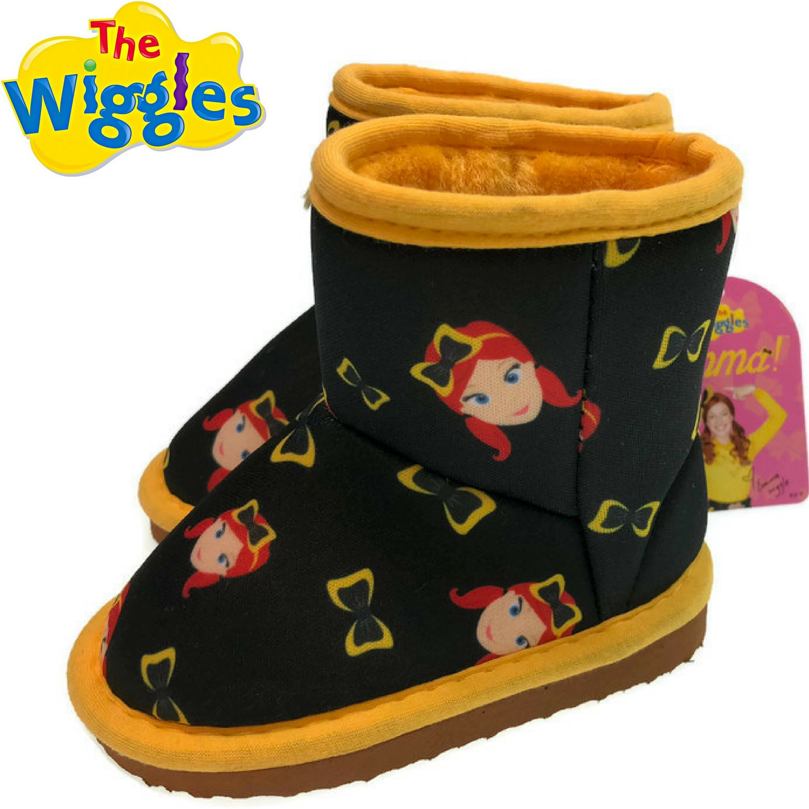 18b5643e3128 h m s Remaining. THE WIGGLES Emma Bow Print Boots Official Licensed  Children s Shoes