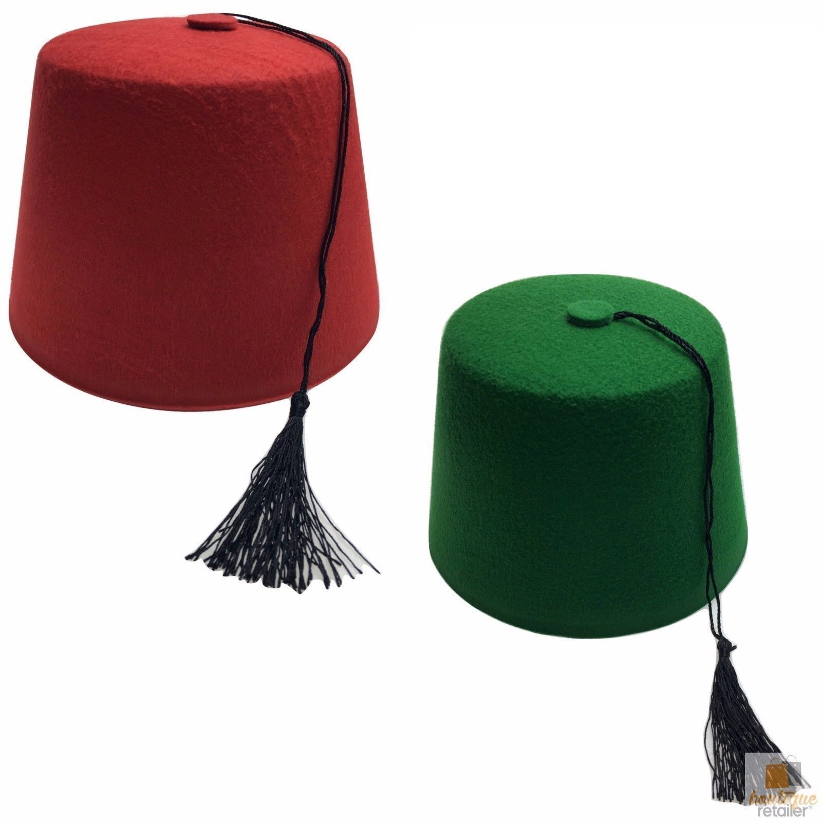 TURKISH HAT Red Green Fez Tarboosh Dress Up Costume Party Moroccan New