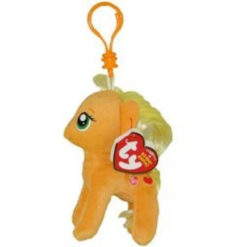 fb63d39c370 TY Beanie Boos Clip Ons - My Little Pony Applejack Plush