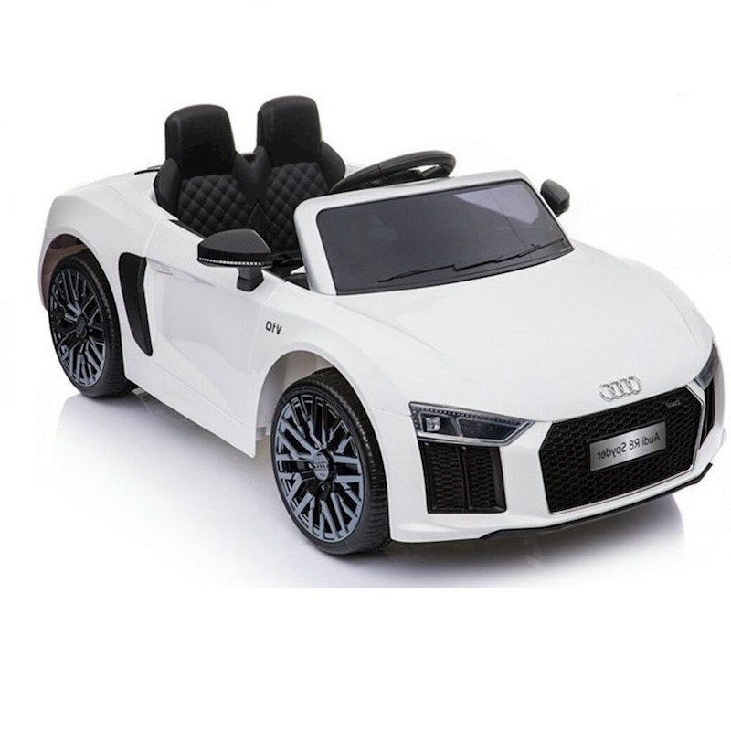 V Licensed Audi R Electric Ride On Toy Car For Kids White Buy - Audi electric toy car