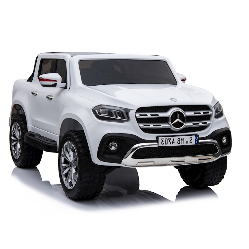 4x4 Licensed Mercedes Benz X Class Ride On Toy Car For Kids White