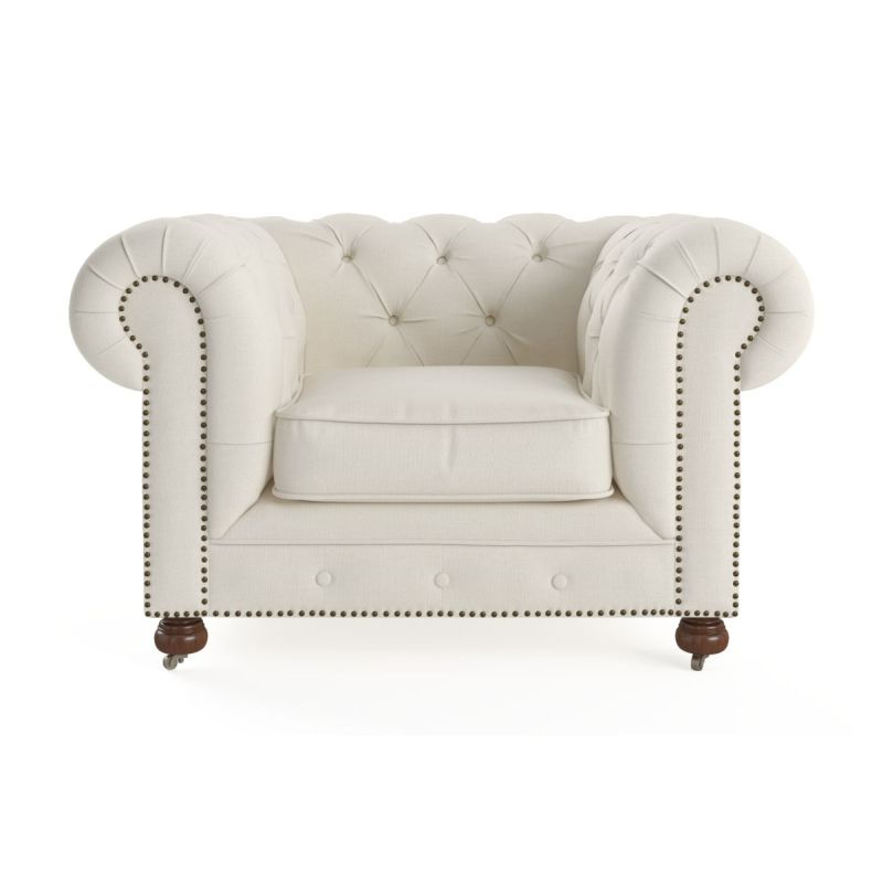 Chesterfield Sofa With Accent Chairs.Camden Chesterfield Armchair In Classic Cream