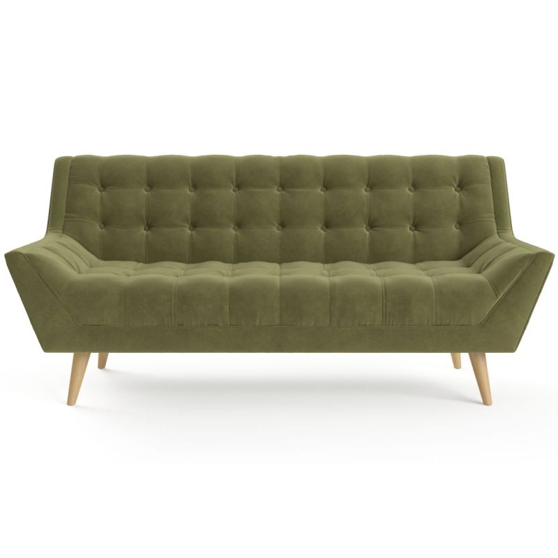H M S Remaining Pia 2 Seater Sofa In Olive Green