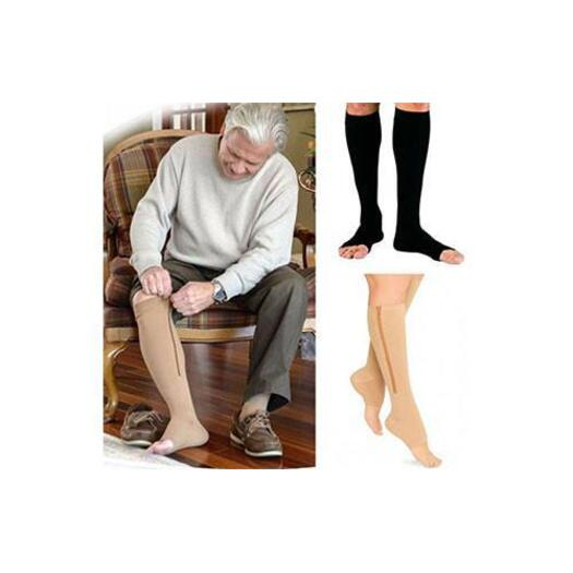 5d1546c690 2 Pairs of Zipper Open Toe Compression Socks | Buy Foot Care - 341501