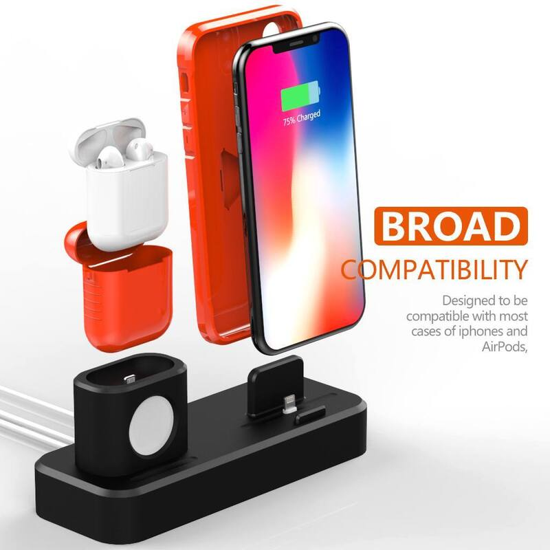 1a17afe6490 3 In 1 Silicone Charging Stand Dock Station For Apple Watch | Buy ...
