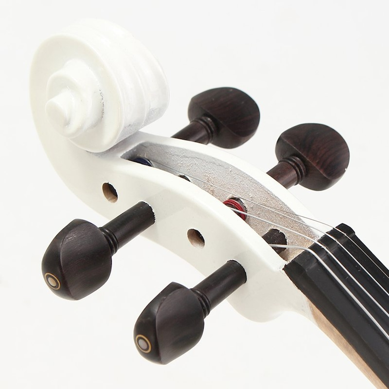 4 4 electric violin with headphone gig bag rosin bow cable for beginner white buy violins. Black Bedroom Furniture Sets. Home Design Ideas
