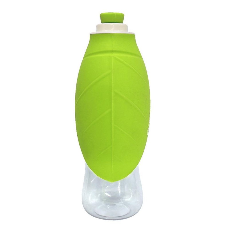 Portable Water Bottle And Bowl For Your Dog: 650ml Sport Portable Leaf Pet Dog Water Bottle Expandable
