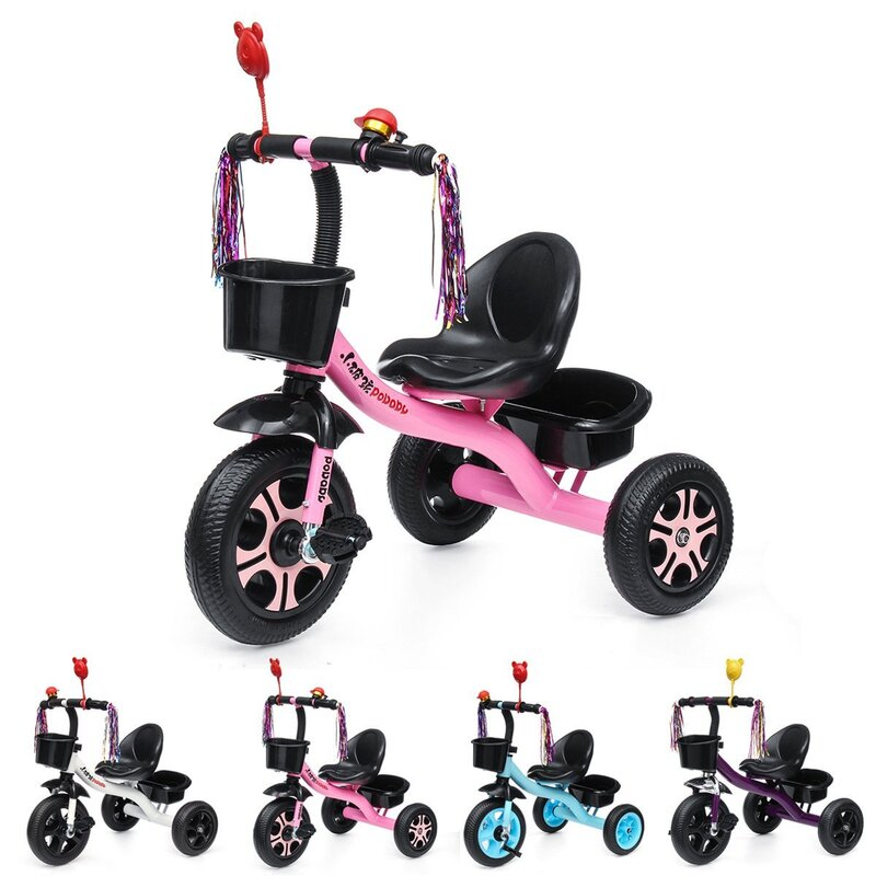 f106a79afb1 h m s Remaining. BIKIGHT 3 Wheels Kids Ride On Tricycle Bike Children Ride  Toddler Balance Baby Mini Bike Safety