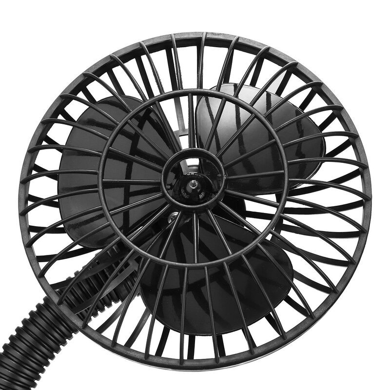 Dc 12v Portable Electric Mini Cooling Fan With Flexible Arm For Auto