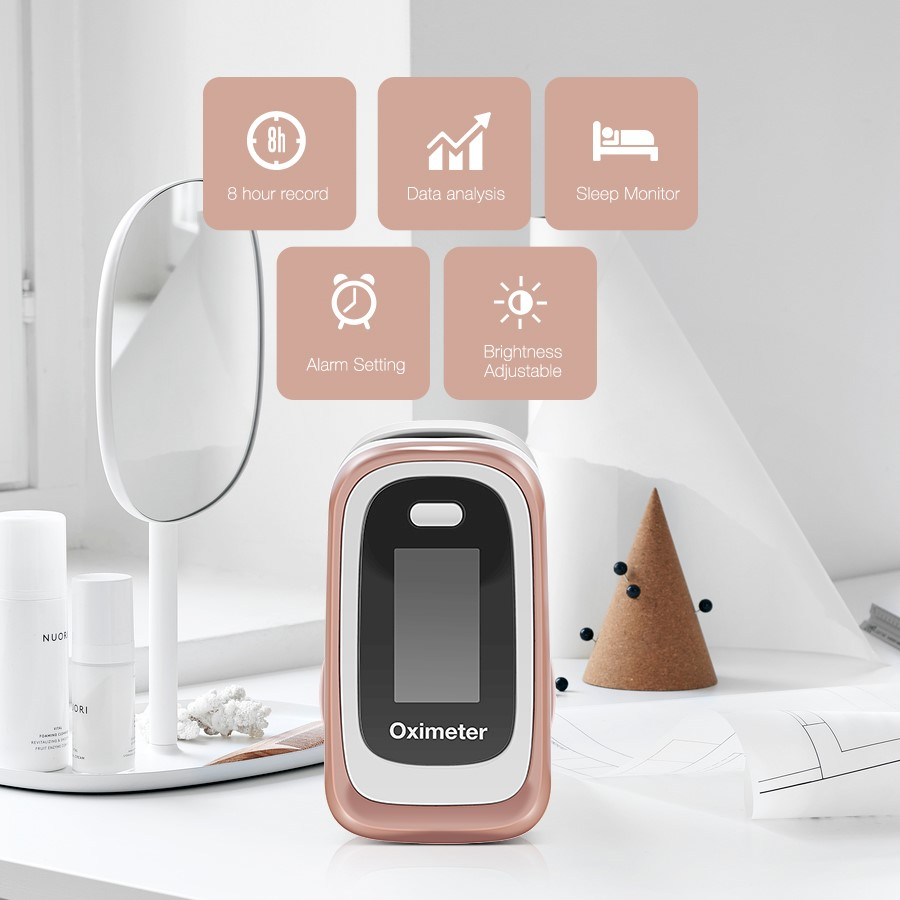 Pulse Oximeter With Alarm For Sleeping