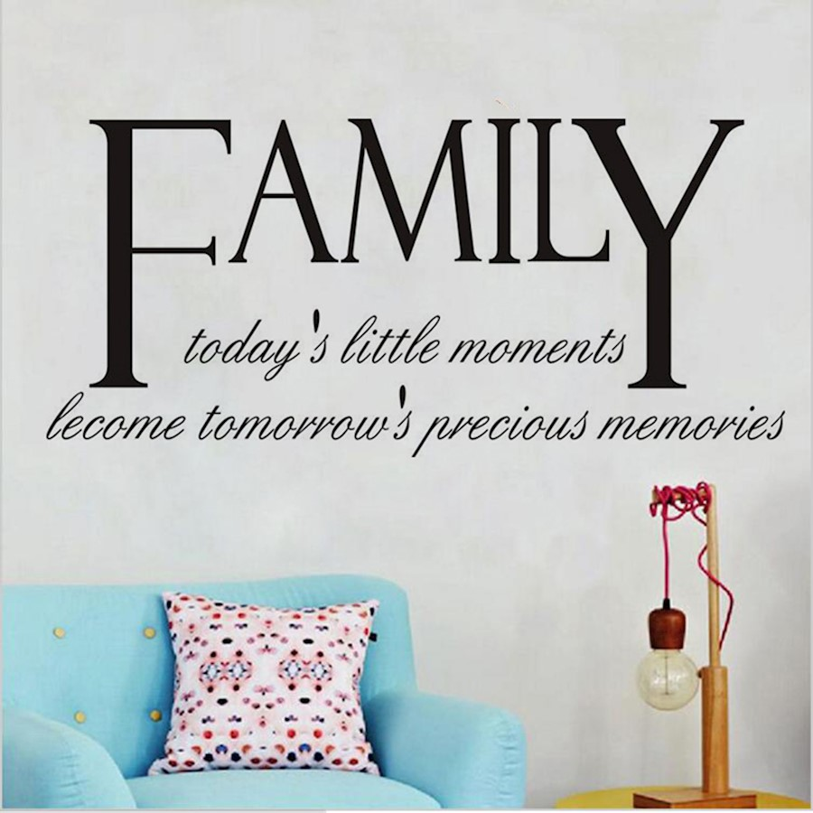 1 x family carved pvc wall sticker