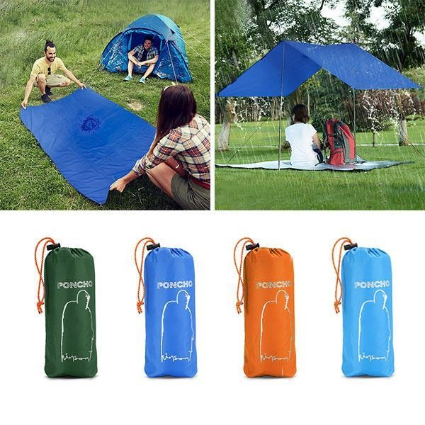 80b54e48e6a8 KCASA KC-RC042 3 in 1 Travel Waterproof Poncho Outdooors Rain Coat ...