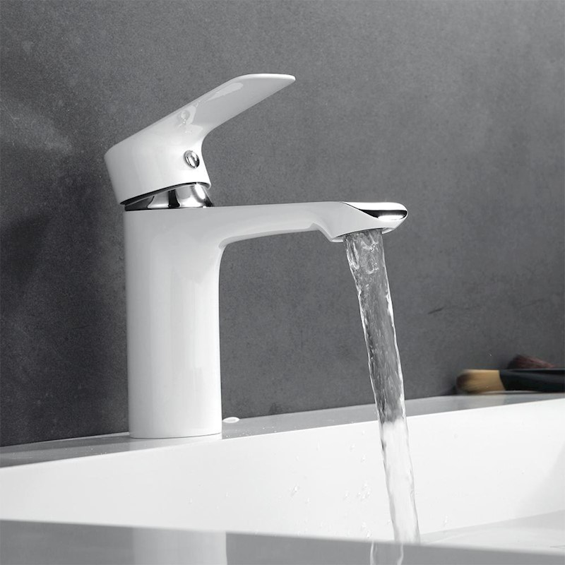 KCASA KC-SL1 Basin Mixer Faucet Chrome Sink Tap Bathroom Faucet Deck ...