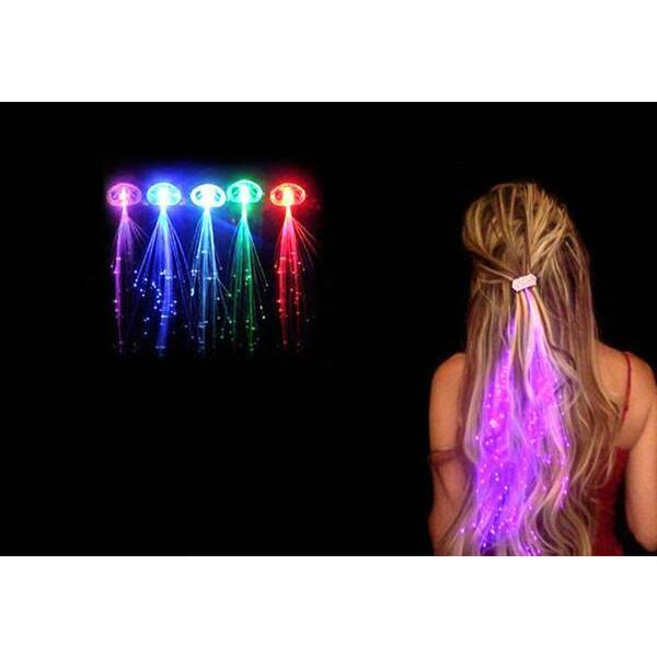 Six Led Light Up Hair Extensions Buy Clip In Hair Extensions 344041