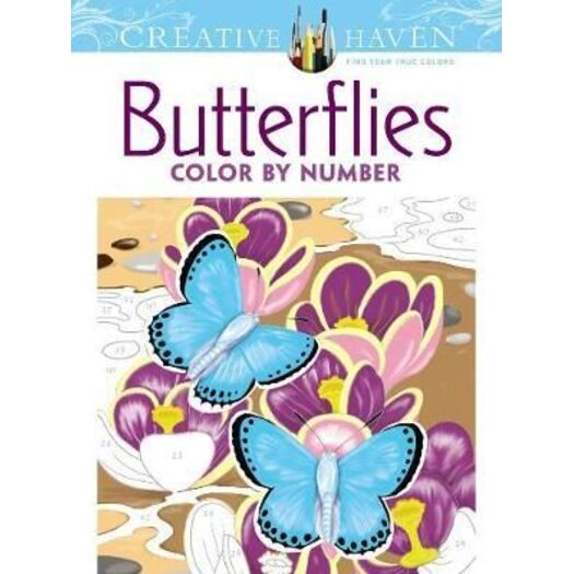 Creative Haven Butterflies Color by Number Coloring Book   Buy ...