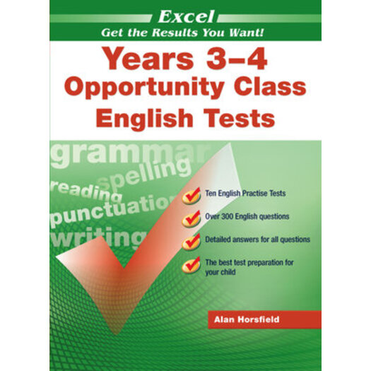 Excel Years 3-4 Opportunity Class Reading Tests : Year 3-4