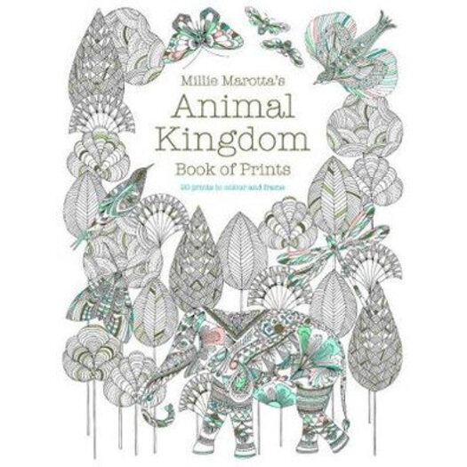 H M S Remaining Millie Marottas Animal Kingdom Book Of Prints 20 To Colour And Frame