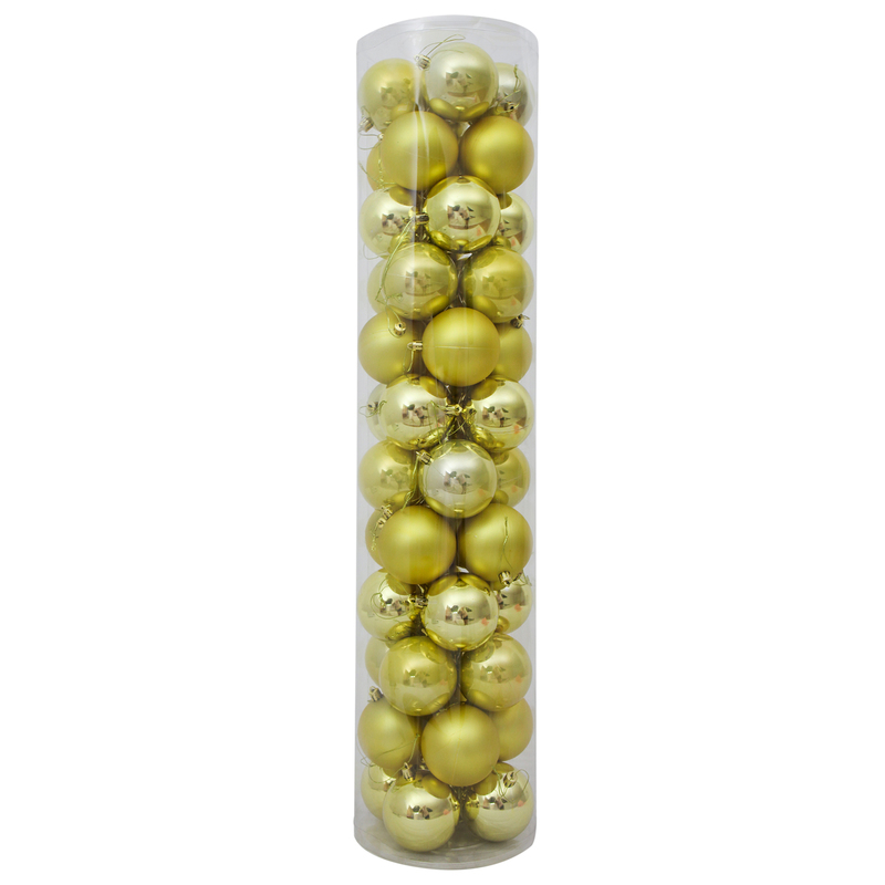 80mm Christmas Baubles Champagne Gold 45 Balls