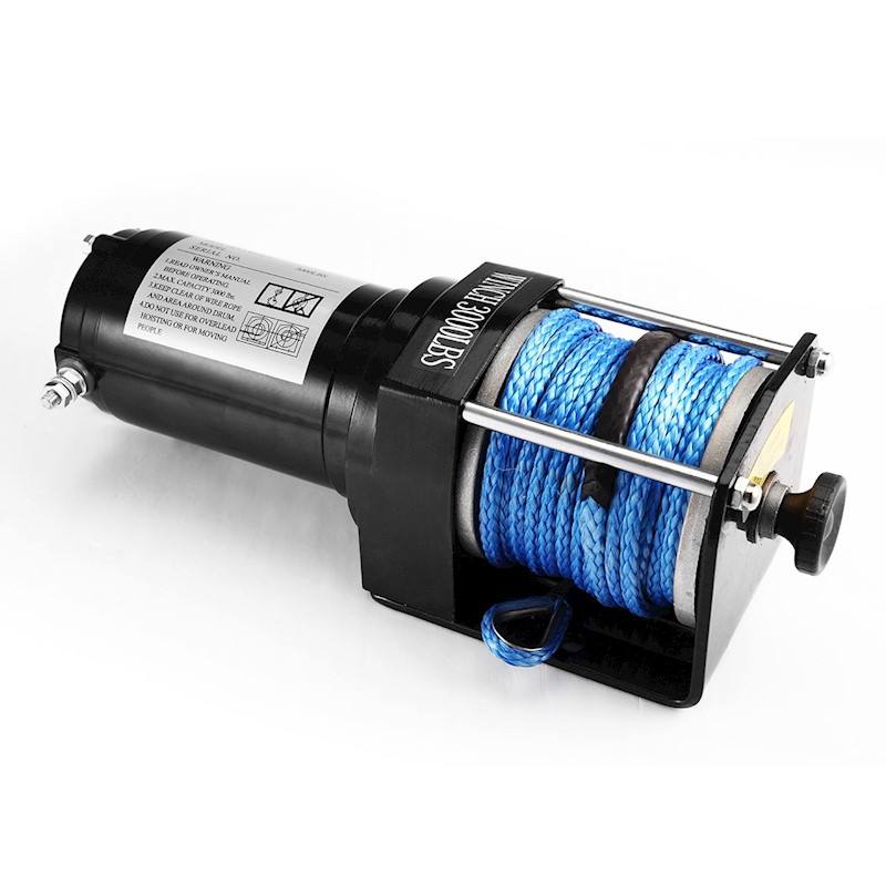 12V Wireless Electric ATV Boat Winch 3000lbs/1325kg w/ 14m Synthetic Rope
