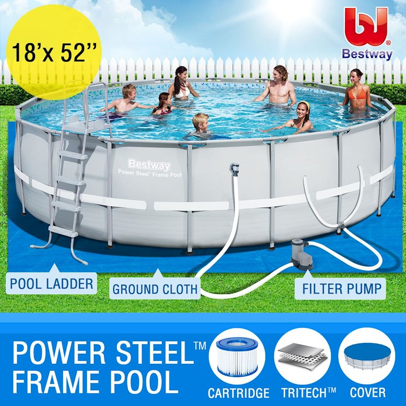 Bestway above ground swimming pool steel pro frame buy - Bestway steel frame swimming pool ...