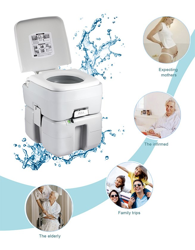 new flushing system 20l water tank outdoor portable toilet. Black Bedroom Furniture Sets. Home Design Ideas