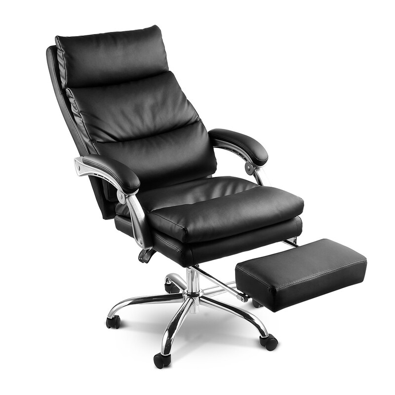 Deluxe Adjustable Ergonomic PU Leather Office Chair with ...