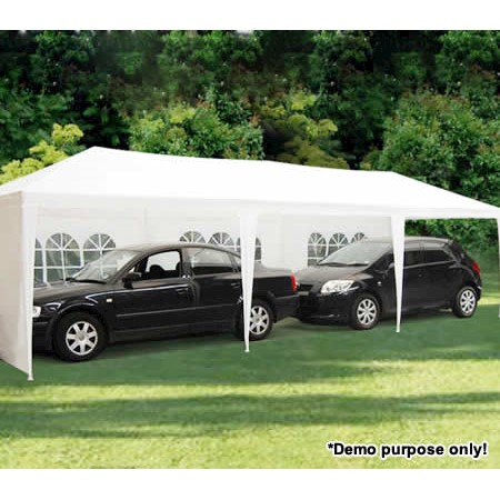Gazebo Pergola Party & Function Marquee Tent with 8 Walls - 3m x 9m x 2 6m  - White