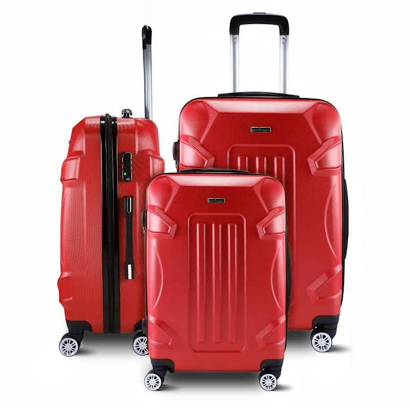 e2a577e99 h m s Remaining. Hard Shell Lightweight Spinner Suitcase 3 Piece Luggage  Sets Trolley with TSA Lock ...