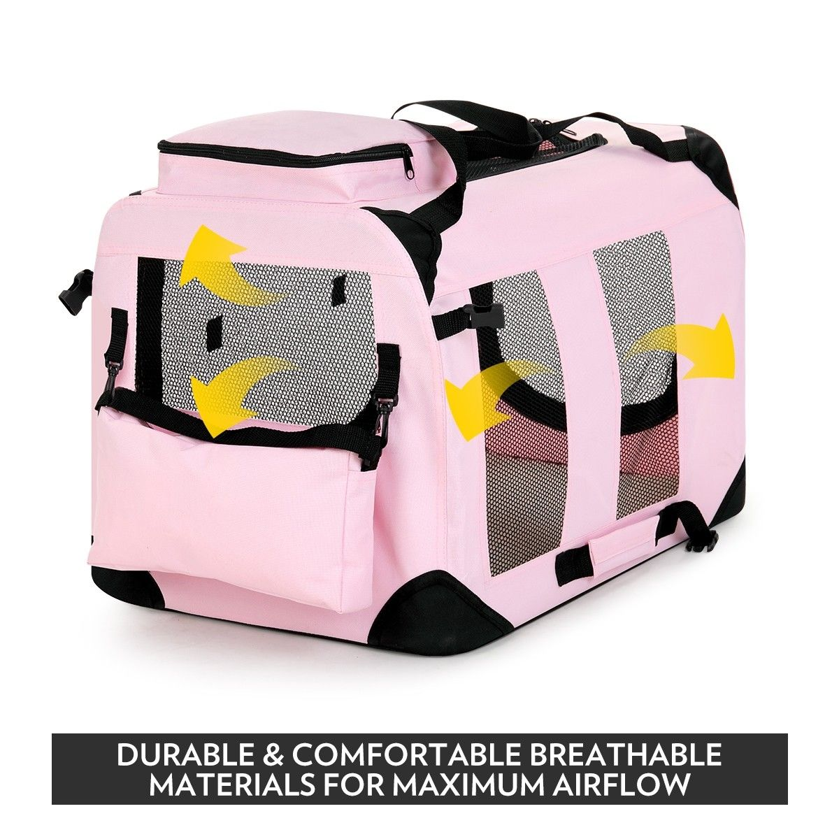 Portable foldable soft dog crate xl pink buy fabric for Xl soft dog crate