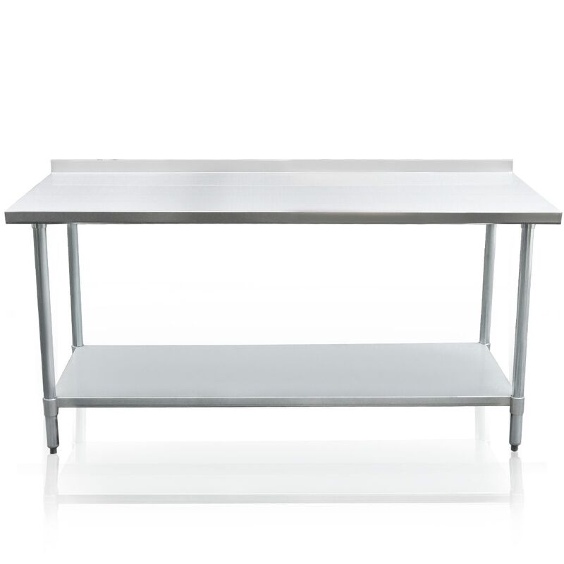 Stainless Steel Kitchen Work Bench Food Prep Table 152cm X 76cm
