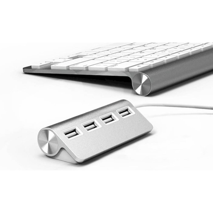 H M S Remaining Four Port Aluminium USB Hub With A Shielded Cable