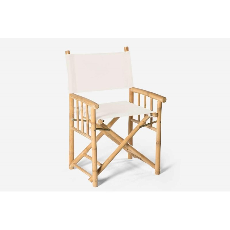 bamboo director chair white