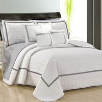 Home & Garden Cheap Price Real Simple Jules Mink King Quilted Coverlet Quilt Drip-Dry