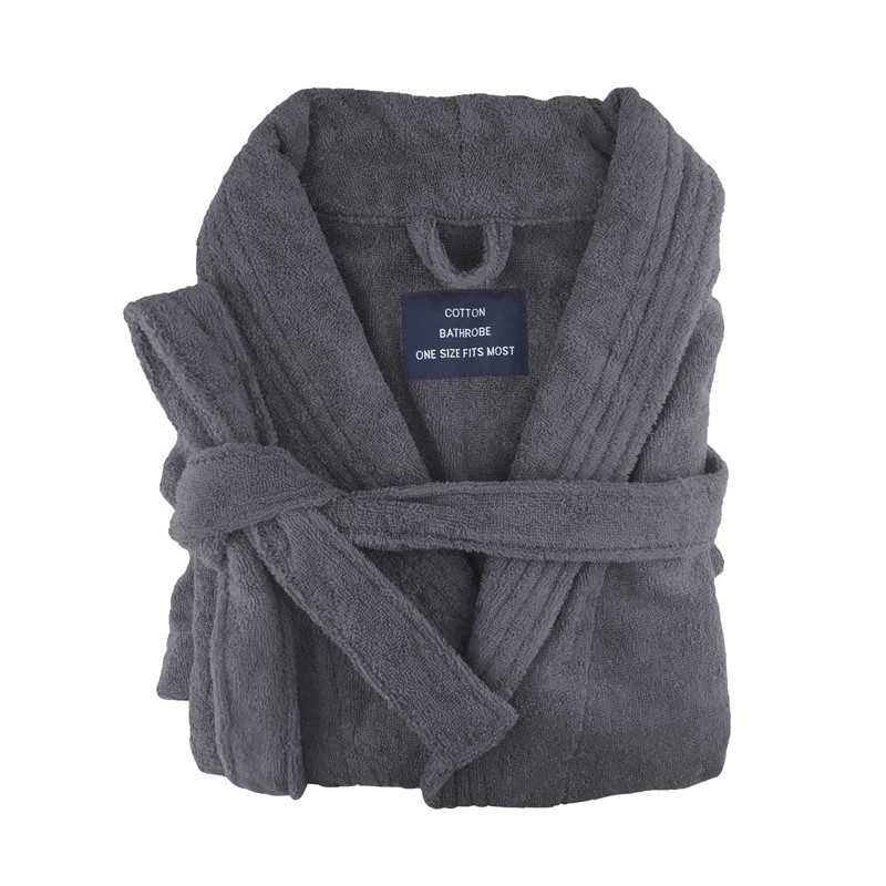 h m s Remaining. Egyptian Cotton Terry Toweling Bathrobe Charcoal 75e15268c