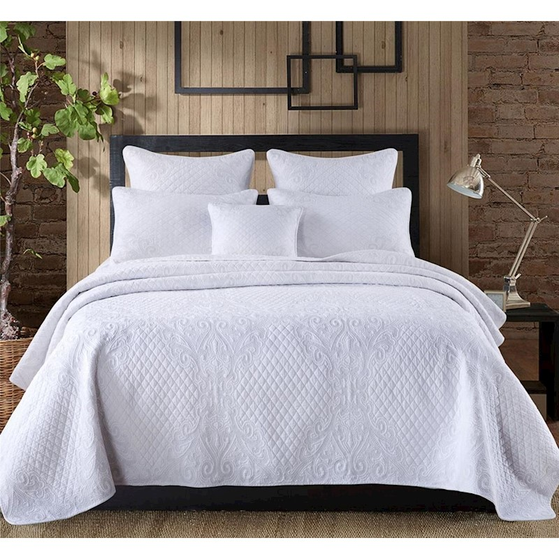 Luxury 100 Cotton Coverlet Bedspread Set Quilt King