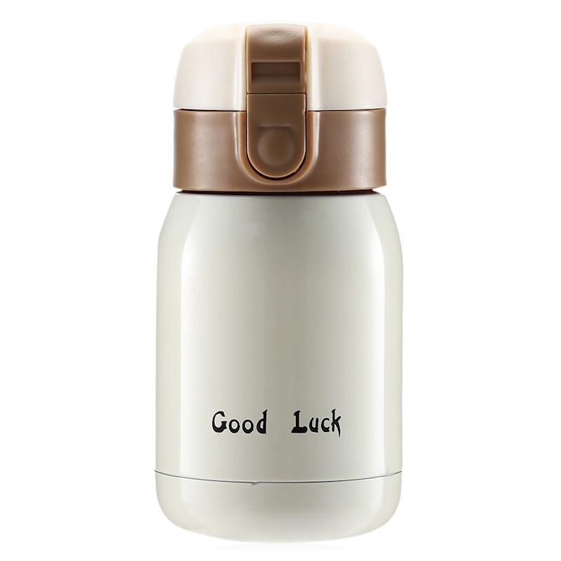 200ML Stainless Steel Kids Adults Vacuum Insulated Bottle Cup-White