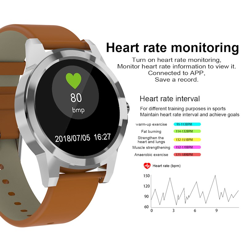 Diggro DI03 Bluetooth Siri Smart Bracelet IP72 Heart Rate Monitor Watches  Pedometer Sedentary Remind Sleep Monitor for Android & IOS-Black