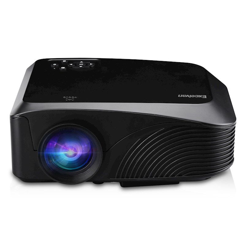 Excelvan LED-4018 Portable Projector 1200 Lumens 800*480 Support 720P 1080P  Max 130 Inch Red-blue 3D With HDMI USB VGA AV TF Interfaces For Home