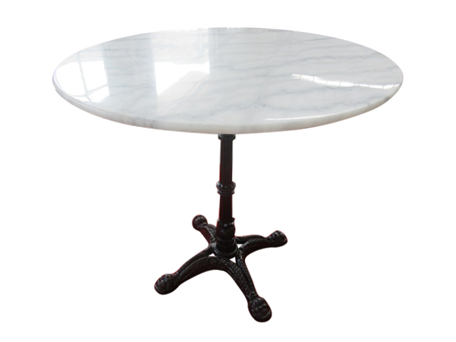 225 & Verona Round Dining Table with White Marble Top