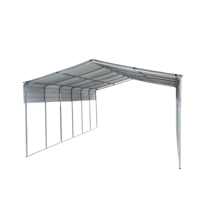 Portable Metal Steel Carport 6x9m Cream | Buy Garages ...