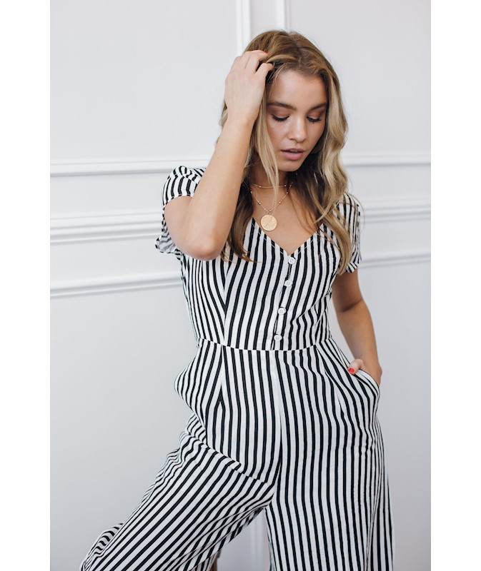 580afe93424 Low Tide Jumpsuit - Black Stripe