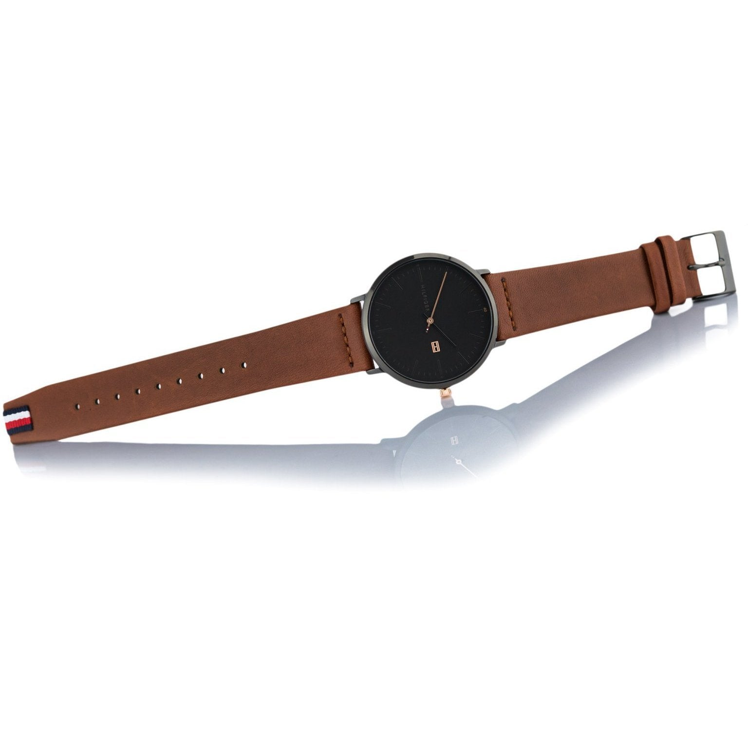 077e9d40 h m s Remaining. Tommy Hilfiger Men's Brown Leather Watch - 1791461