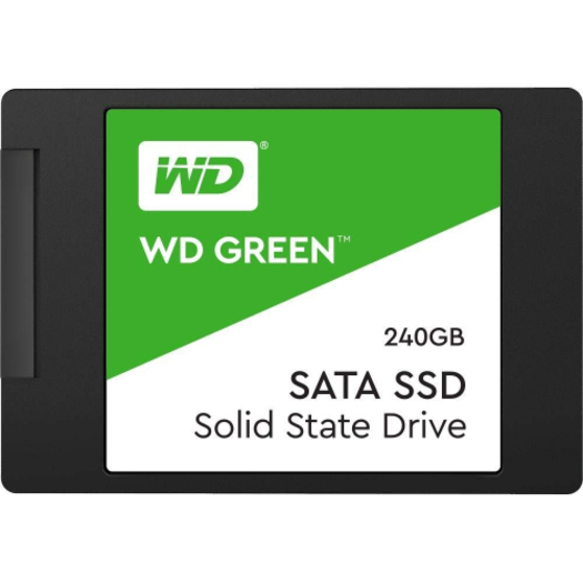 Western Digital Green 240GB 2 5' 3D NAND SSD 7MM, 540/430 R/W, SATA 6GB  3  Years Warranty WDS240G2G0A
