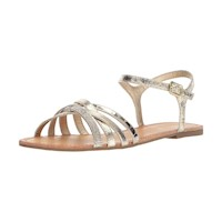 Kenneth Cole REACTION Women's Just Criss Cross Ankle Straps Flat Sandal US