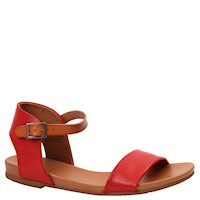 Zigi Soho Womens Island Open Toe Casual Ankle Strap Sandals, Red/Tan, Size 9.0 US